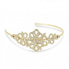 Jon Richard - Orchid vintage gold tone headband