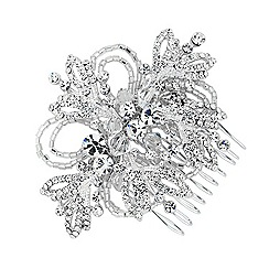 Jon Richard - Crystal and buggle bead loop hair comb