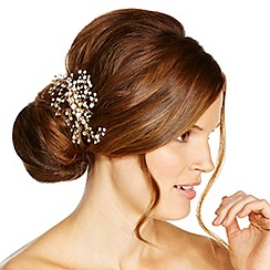 Jon Richard - Crystal cluster gold spray hair slide