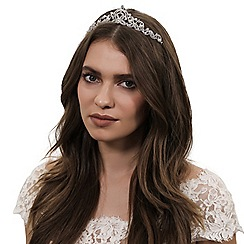Jon Richard - Isabella crystal and pearl flower tiara
