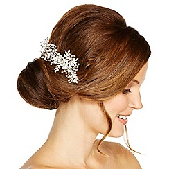 Jon Richard - Mini crystal leaf spray hair comb