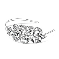 Jon Richard - Crystal embellished swirl motif headband