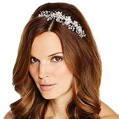 Jon Richard - Peardrop and crystal floral spray headband
