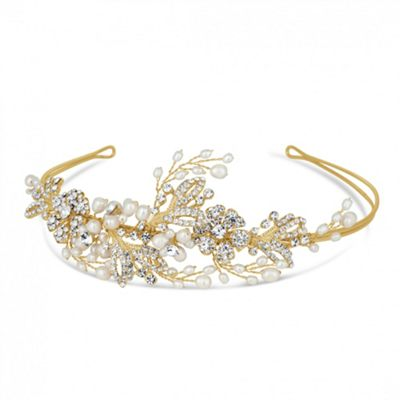 Alan Hannah Devoted Designer blossom freshwater pearl and pave headband - . -