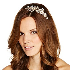 Jon Richard - Online exclusive freshwater pearl floral hand wrapped headband