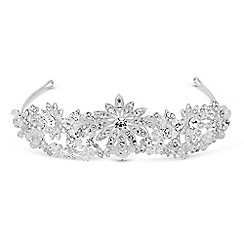 Jon Richard - Crystal embellished sunflower double row tiara