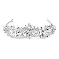 Jon Richard - Crystal embellished sunflower double row tiara