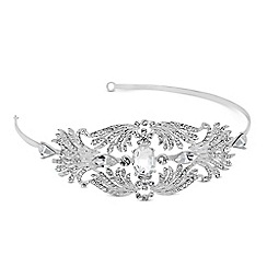 Alan Hannah Devoted - Designer oval stone crystal spray surround headband