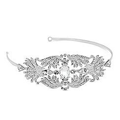 Alan Hannah Devoted - Designer oval stone crystal spray surround headband