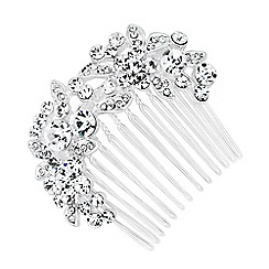 Jon Richard - Online exclusive curved flower hair comb