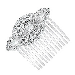 Jon Richard - Online exclusive navette and diamante surround hair comb