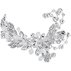 Jon Richard - Crystal spray and embellished leaf hair clip