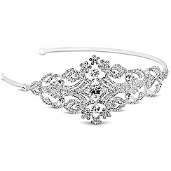 Alan Hannah Devoted - Designer crystal embellished floral side headband