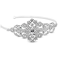 Alan Hannah Devoted - Designer crystal embellished floral side headband