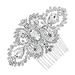 Alan Hannah Devoted - Designer statement crystal flower hair comb