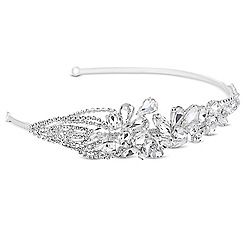 Jon Richard - Diamante and crystal teardrop embellished headband
