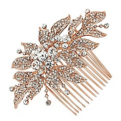 Jon Richard - Vintage style embellished leaf hair comb
