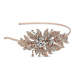 Jon Richard - Vintage style embellished leaf headband