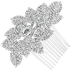 Jon Richard - Online exclusive diamante crystal leaf hair comb