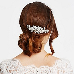 Jon Richard - Statement mixed crystal flower hair comb
