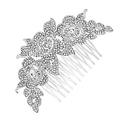 Jon Richard - Crystal embellished rose hair comb