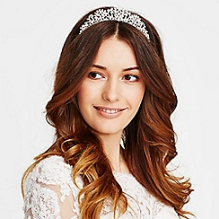 Jon Richard - Crystal embellished teardrop spray tiara