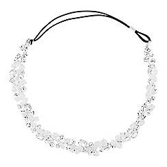 Jon Richard - Crystal and facet bead halo style headband