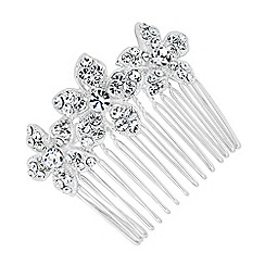 Jon Richard - Triple crystal flower hair comb