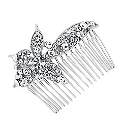 Jon Richard - Crystal embellished flower hair comb