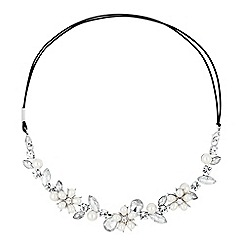 Jon Richard - Pearl flower and crystal halo headband