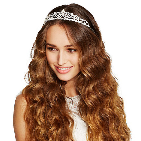 Jon Richard - Diamante crystal embellished swirl tiara