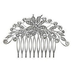 Jon Richard - Scrolled crystal flower comb
