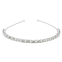 Jon Richard - Pearl and crystal bubble headband