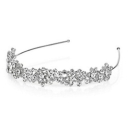 Jon Richard - Graduated pearl and crystal leaf headband
