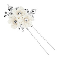 Alan Hannah Devoted - Designer triple silk flower hair pin