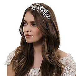 Alan Hannah Devoted - Designer crystal botanical swirl headband
