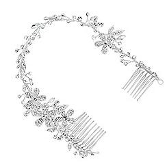 Alan Hannah Devoted - Designer crystal flower wrap around double hair comb
