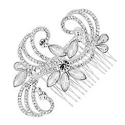 Alan Hannah Devoted - Designer navette embellished swirl hair comb
