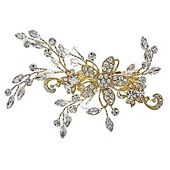Jon Richard - Gold crystal vine spray hair slide