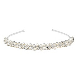 Jon Richard - Pearl and mini crystal headband