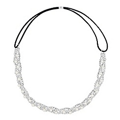 Jon Richard - Pearl and diamante crystal twist headband