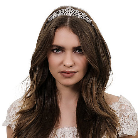 Jon Richard - Crystal butterfly and floral embellished tiara