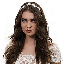 Alan Hannah Devoted - Designer pearl blossom wrap halo headband