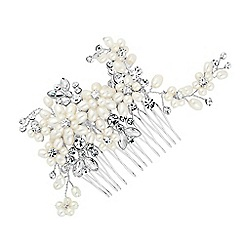 Alan Hannah Devoted - Designer pearl blossom wrap hair comb