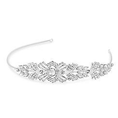 Alan Hannah Devoted - Designer silver crystal art deco statement headband