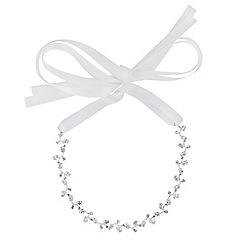 Alan Hannah Devoted - Athena silver cubic zirconia hair ribbon