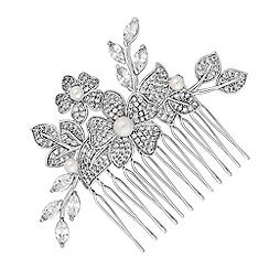 Alan Hannah Devoted - Freya flower and pearl hair comb