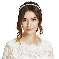 Alan Hannah Devoted - Floral crystal and pearl headband