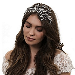 Alan Hannah Devoted - Silver crystal statement headpiece