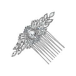 Jon Richard - Silver pave swirl hair comb
